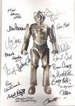 Cyberman A3 Poster 18 Genuine Autographs, rare A3 10077